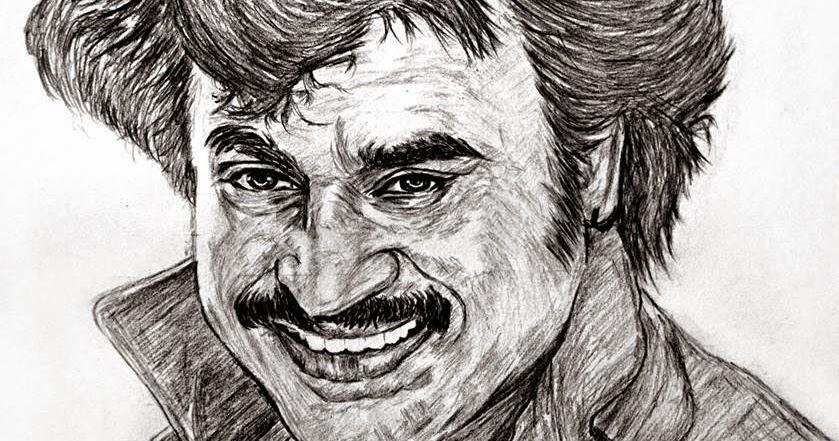 Rajini Pencil drawing picture by Rajini fan | Superstar RAJINI