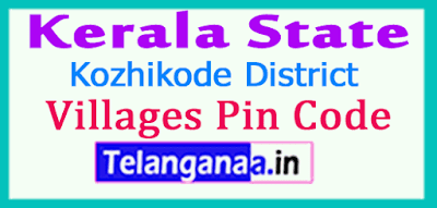 Kozhikode District Pin Codes in Kerala State