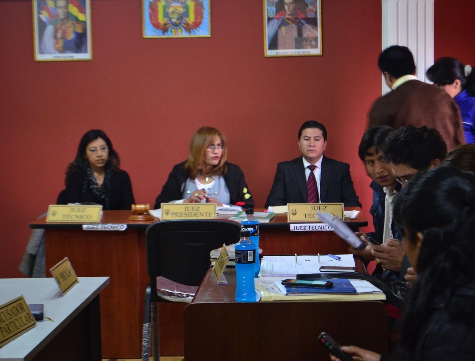 Audiencia del Tribunal Décimo de Sentencia de La Paz / CARLOS QUISBERT