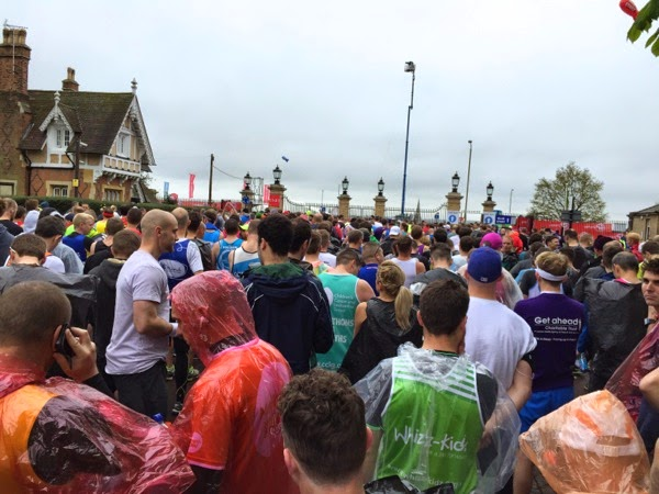 2015 London Marathon red start corral Greenwich