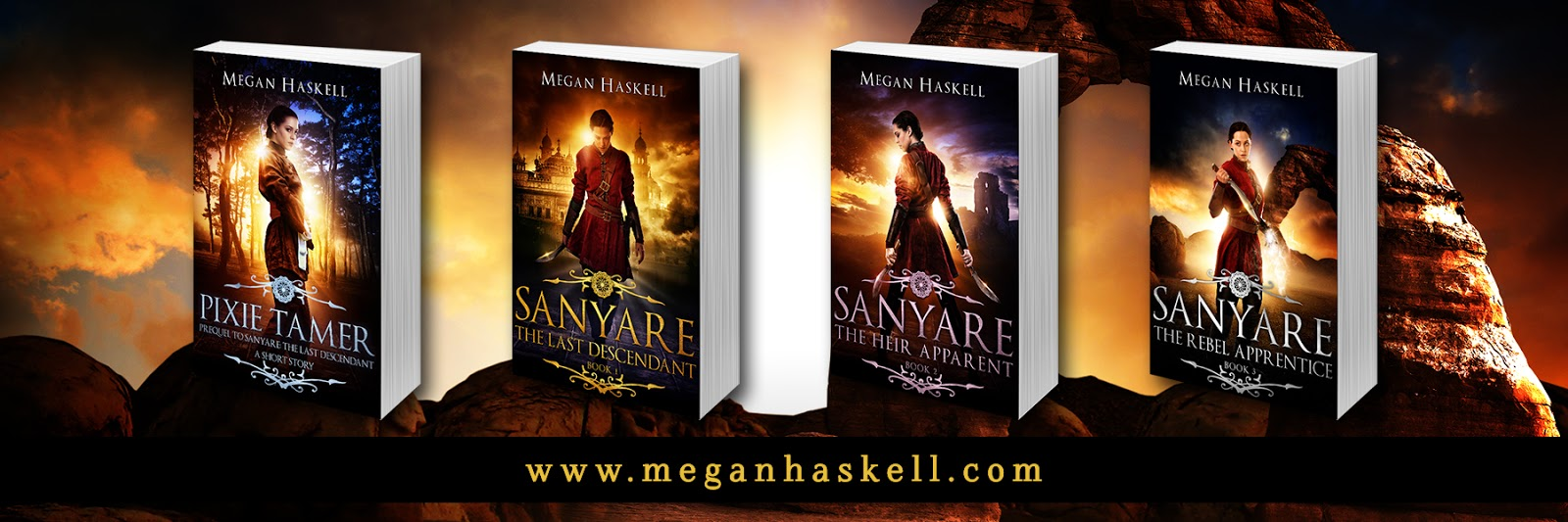 If you like headstrong heroines, mythological creatures, and a hearty dose  of magic and mayhem, then you'll love Megan Haskell's thrilling series.