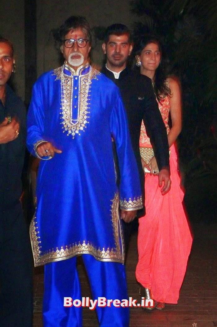 Amitabh Bachchan, Photos from Amitabh Bachchan's Diwali Bash 2014