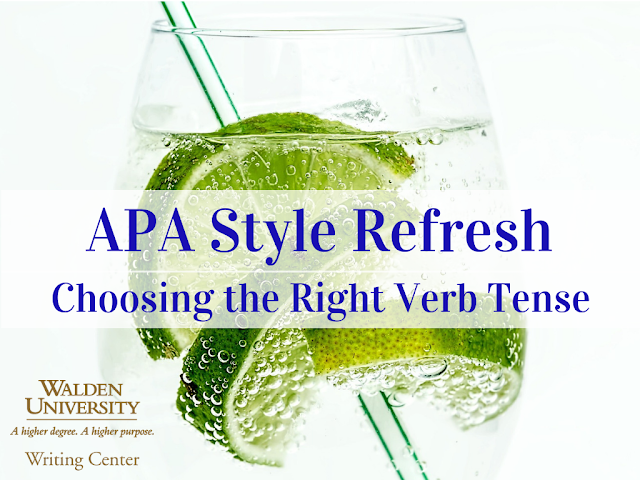 APA style refresh: Choosing the right verb tense