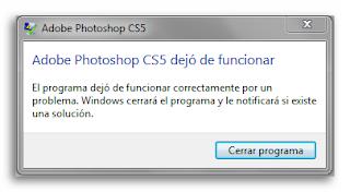 Solución: Adobe Photoshop dejó de funcionar.