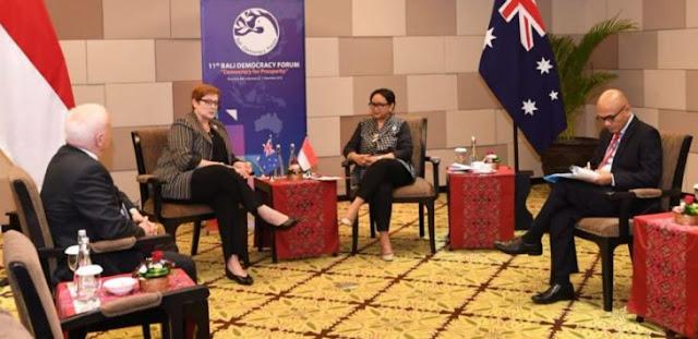 Serangan KKB Papua, Menlu Australia Gelar Pertemuan Tertutup dengan Menlu Retno di Bali, Ada Apa?