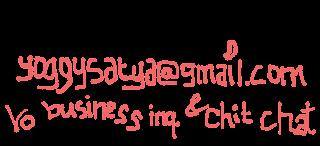 contact me yoggysatya@gmail.com