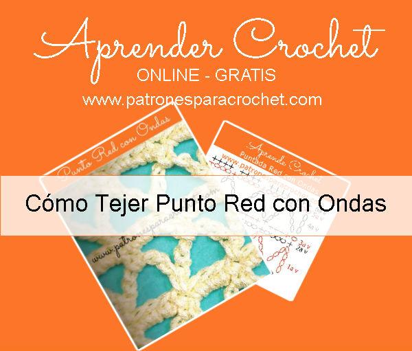 Variante punto red tejido al crochet