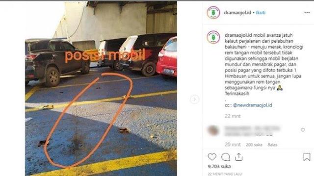 Gara Gara Tak Gunakan Rem Tangan, Mobil Avanza di Atas Kapal Fery ini Terjatuh ke Laut