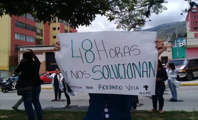 Estudiantes de la ULA tomaron las calles exigiendo justicia por joven asesinado