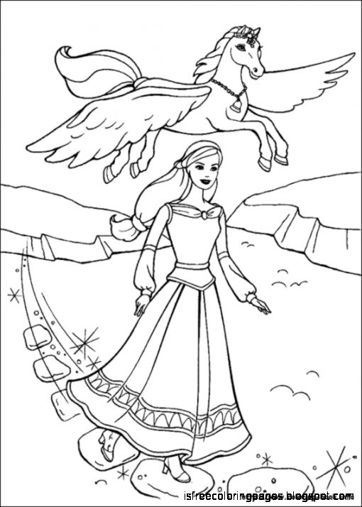 Free Coloring Pages Barbie And The Magic Of Pegasus Coloring Pages