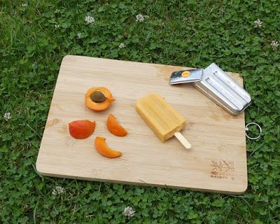 Aprikosen-Joghurt-Stieleis