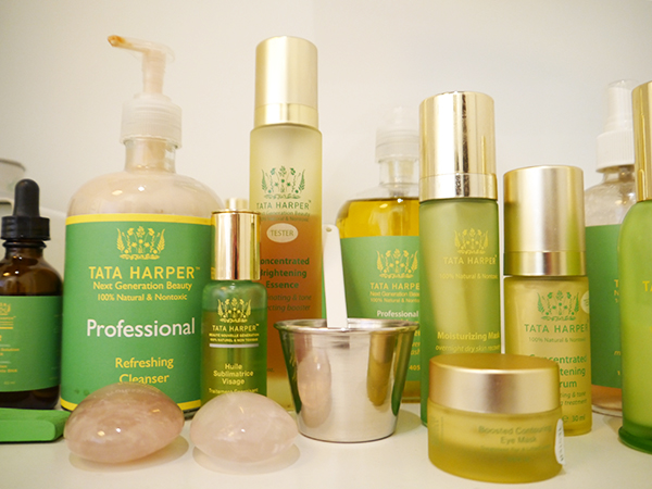 Some of the products used in a Tata Harper facial