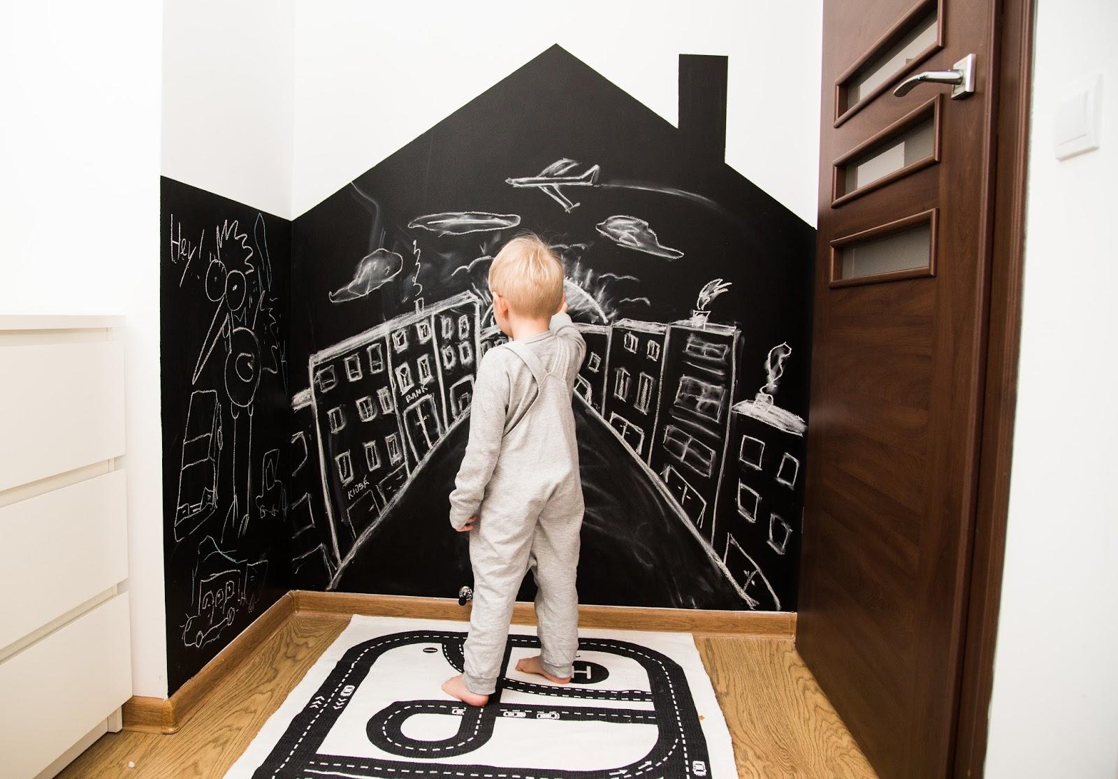 Domowe Inspiracje Farba Tablicowa W Pokoju Dziecka I W