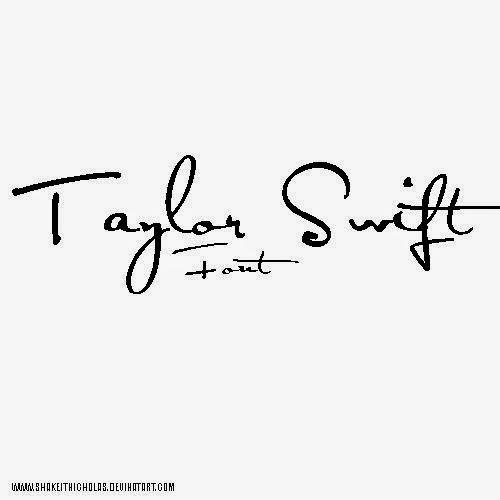 TAYLOR SWIFT HANDWRITING FONT