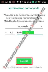 cara daftar whatsapp di hp samsung android