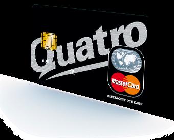 Karta Quatro.Pozickova Karta Quatro Premium Vase Peniaze