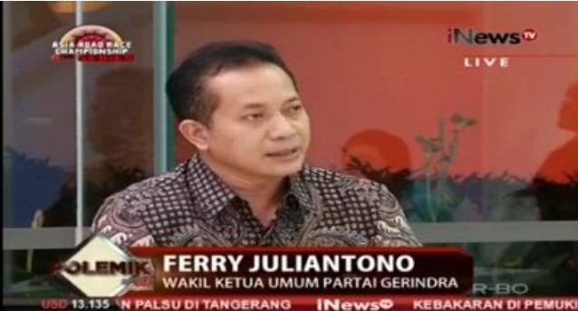 Jaksa Cabut Banding, Gerindra: Ahok Harus Dipindahkan ke Lapas Cipinang