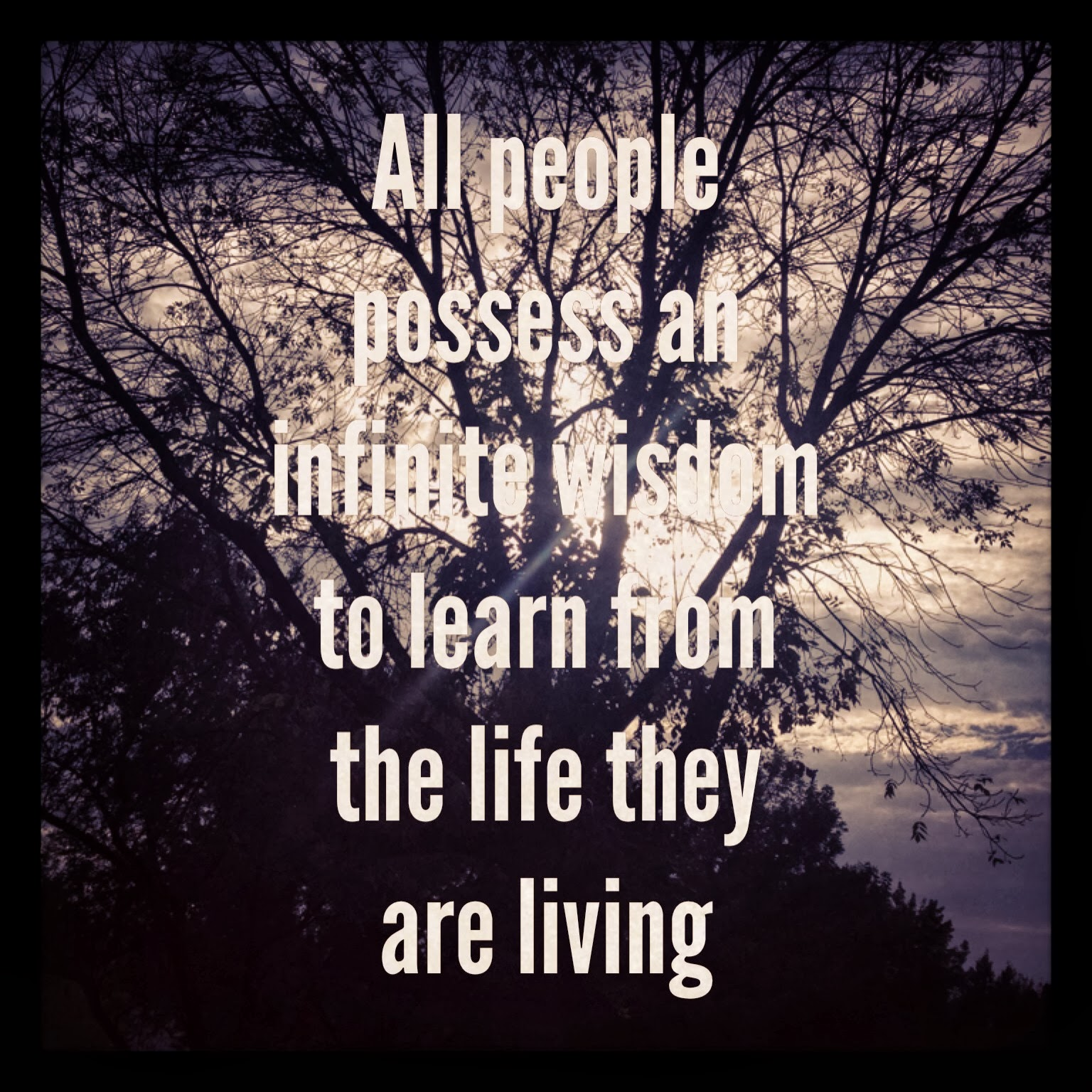susan marie schulhof all people possess an infinite wisdom to all people possess an infinite wisdom to learn from the life they are living