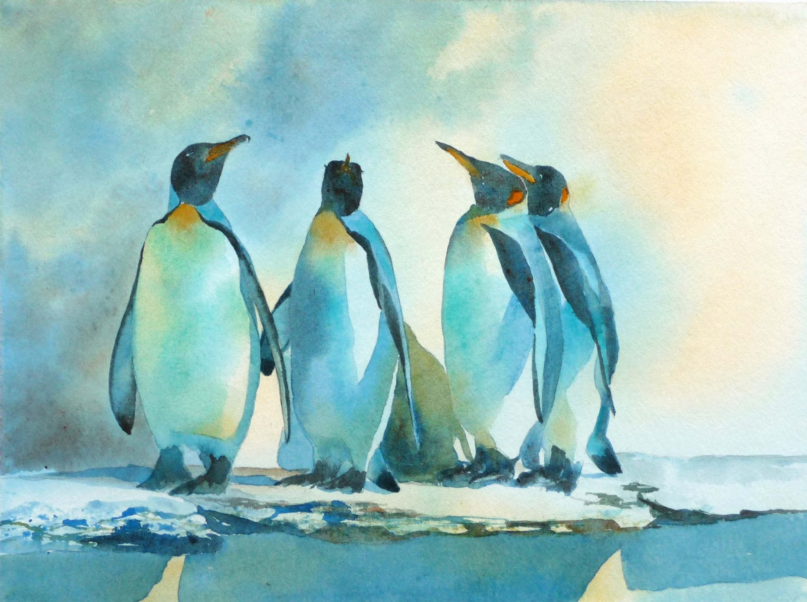 Fiona peart as i was saying watercolour washes demo for Watercolor painting ideas beginners