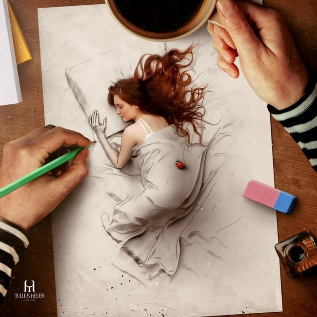 Arte digital do ilustrador e artista Tullius Heuer