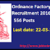 Ordnance Factory Itarsi Recruitment 2016 Apply online for 556 Semi skilled posts