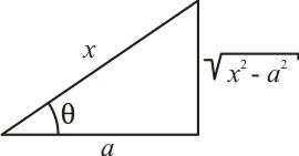 Triângulo retângulo - secante