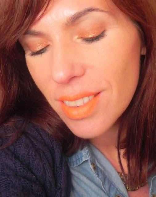 maquillaje fácil naranja primavera