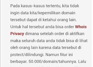 Data informasi domain di situs webhosting ternyata di 'publik' untuk umum