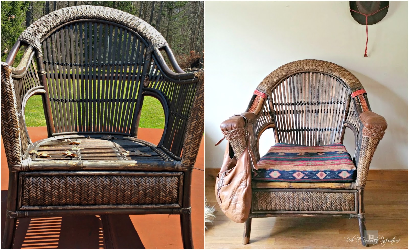 Pier One Rattan Chair Wheelchair Lift For Van 1 Wicker And Makeover Redo It Yourself
