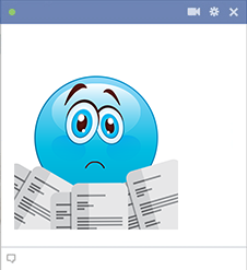 Too much work - Facebook emoticon