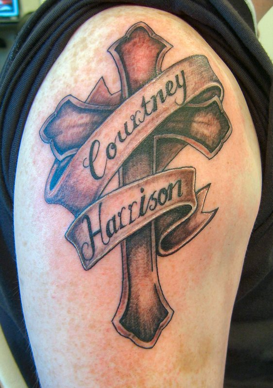 25 cross tattoos for men design best