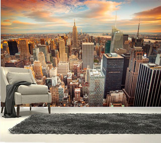 New York tapet utsikt fototapet stad skyline
