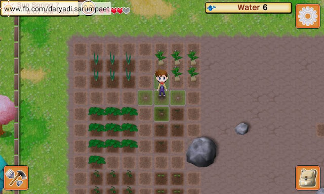 harvest moon seeds of memories android game working crops on field