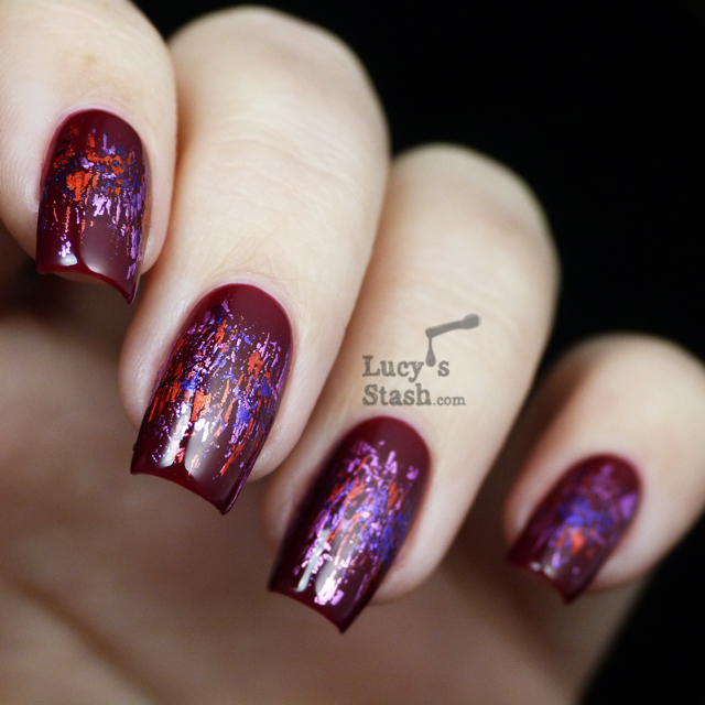 Abstract Foil Pattern Manicure Feat. Rococo Nail Apparel