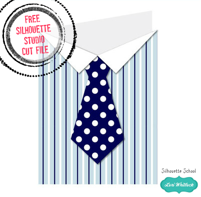 cut file, father's day tie, Silhouette Studio Cut File