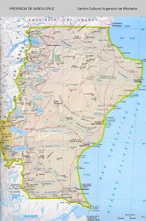 Ubicación de las bases reptilianas en Argentina: Santa Cruz.