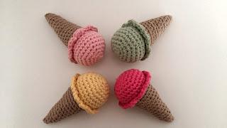 tuto cornet glace crochet dinette
