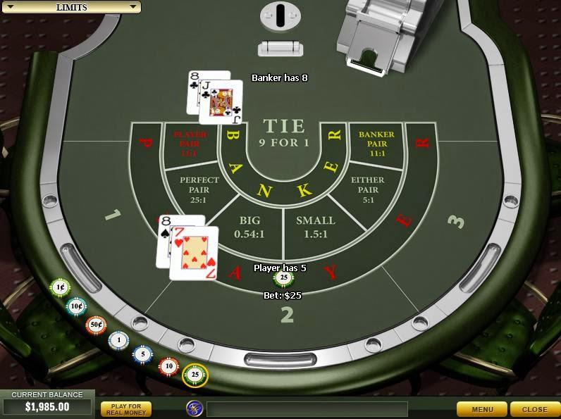 Casino Tropez Baccarat Screen