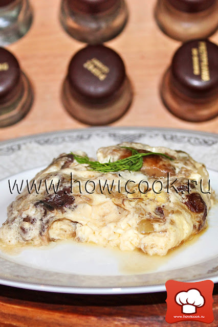 рецепт омлета с лесными грибами с фото