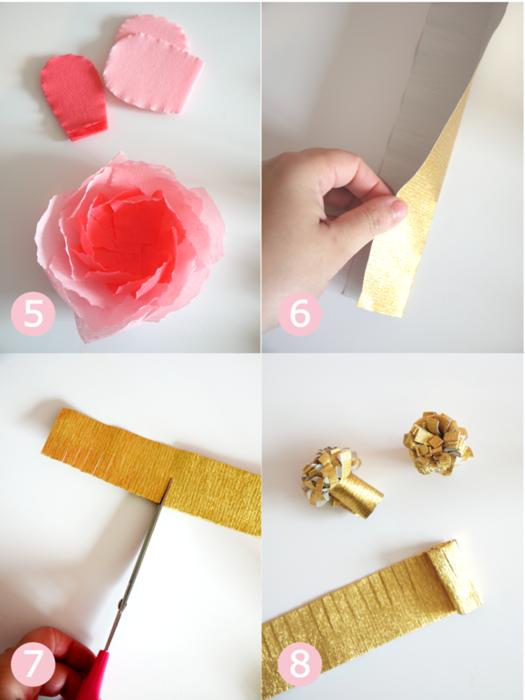 как сделать маки из гофрированной бумаги своими руками, 8 марта, цветы на 8 марта своими руками,