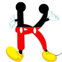 Original alfabeto inspirado en Mickey Mouse K.