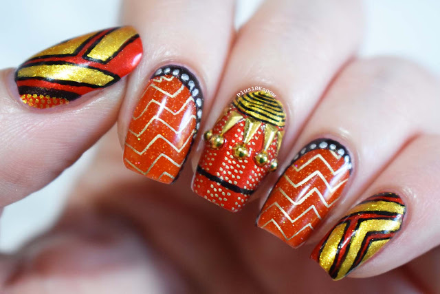 Okoye nerdy nails Marvel Black Panther