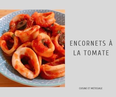 encornets tomate et olive