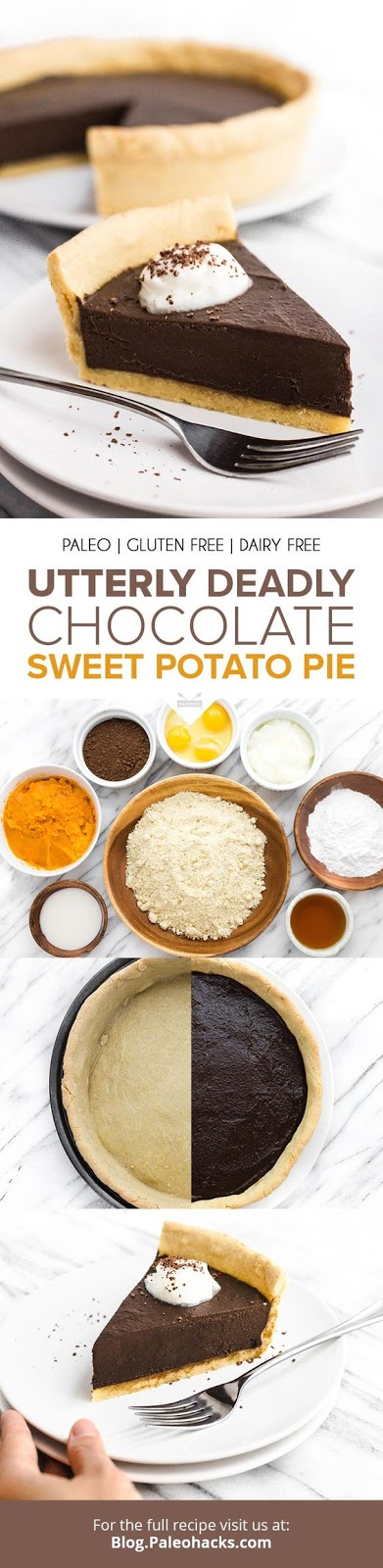 Keto Utterly Deadly Chocolate Sweet Potato Pie