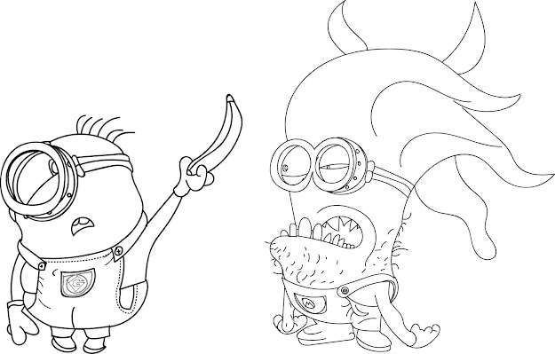 Coloring Pages Room Close Wiggle Minion