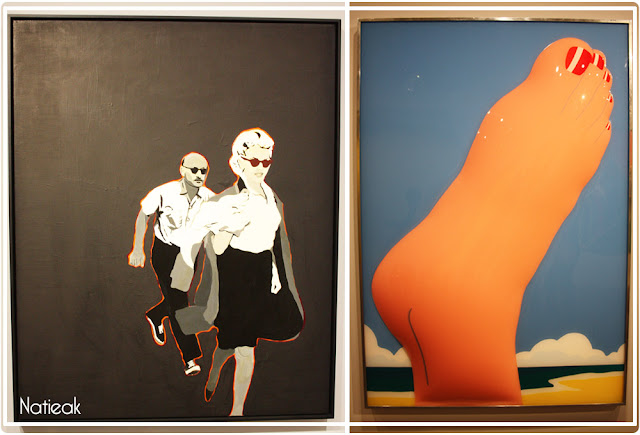 "Rosalyn Drexler  "" Marilyn Pursued ""et Tom Wesselmann "" Seascape number """