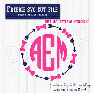 free arrow monogram cut file