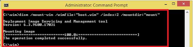 memodifikasi indeks kedua di boot.wim yang sama