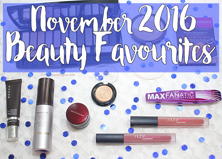 Makeup and skincare favourites for November 2016.