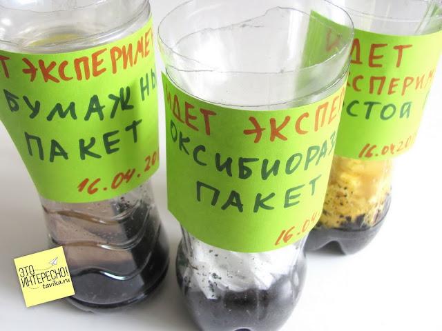 Как разлагаются пакеты - эксперимент для детей по экологии